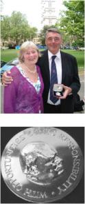 Dr William Lockitt receives Winston Churchill Silver Medallion