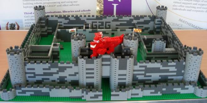 Harlech Castle in LEGO
