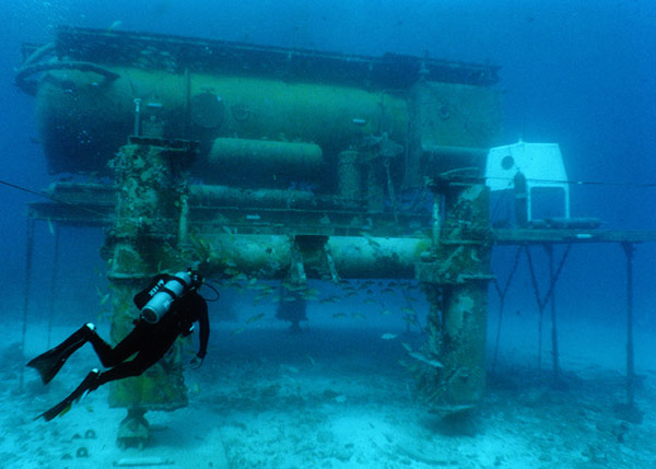 NASA's underwater Astronaut training facility
