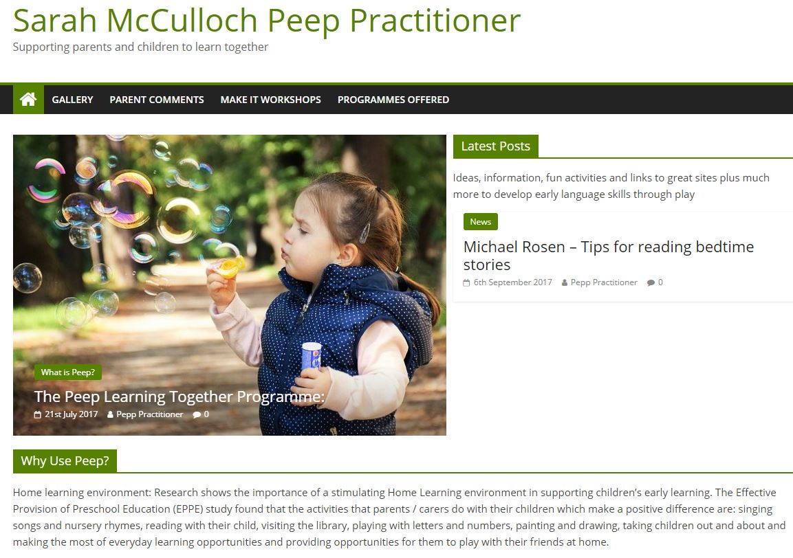 Sarah McCulloch Peep Practitioner